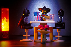 The Date (arnaud patoto) Tags: lego batman catwoman rendezvous love amoureux restaurant toys jouets mexicain maxicano guitare darknight dccomics sony alpha77ii