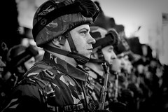 Soldiers (Constantin Florea) Tags: candid street outdoor portrait face streetphoto streetphotography blackwhite blackandwhite bw monochrome city urban people life capture man canon soldiers ef70200mm canon6d