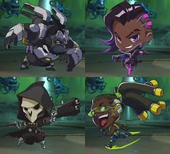 Even More Cute (Shauni Farella) Tags: reaper sombra winston lucio overwatch
