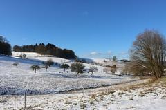 Rural (ivlys) Tags: allemagne deutschland germany hessen odenwald oberbeerbach ländlich rural landschaft landscape schnee snow winter sonne sun wolken clouds himmel sky blau blue nature ivlys
