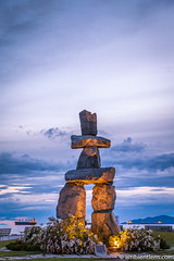English Bay Inukshuk 4 (AmbientLens) Tags: bc beach britishcolumbia clouds nature outdoors park relaxing sculpture sea trees water canada coast englishbay inukshuk natural ocean pacificnorthwest rocks sunset vancouver