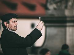 ... Detected! (Thomas Listl) Tags: thomaslistl color street urban people selfie man hat bokeh mustache