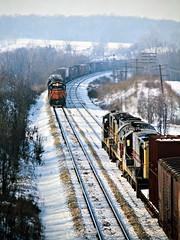 EL, Pavonia , Ohio, 1974 (railphotoart) Tags: movingmeetwbelwithebdmilwpower stillimage pavonia ohio unitedstates