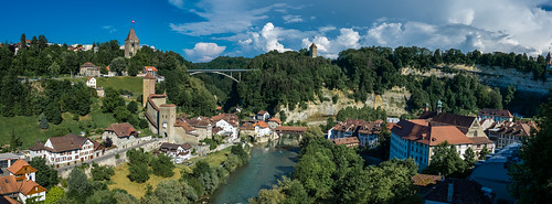 Panoramic view of Fribourg - Switzerland