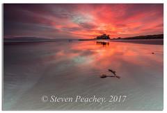 Bamburgh Castle (Steven Peachey) Tags: sunrise seascape beach northumberland sky 2017 sea canon6d bamburghcastle ef1740mmf4l northeastcoast northeastengland stevenpeachey exposure lowlight lee09gnd leefilters explored explore