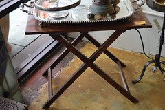 """Mahogany Campaign Table, Folder, English, 1850 • <a style=""""font-size:0.8em;"""" href=""""http://www.flickr.com/photos/51721355@N02/18461108112/"""" target=""""_blank"""">View on Flickr</a>"""