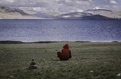 Monk (8tariqkhan8) Tags: travel india lake mountains landscape asia surreal monk roadtrip adventure explore solo leh himalayas touring ladakh tsomoriri royalenfield travelphotography motography d5200