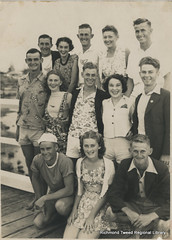 Surf Club Members c1938 (RTRL) Tags: byronbay surfclub surflifesaving