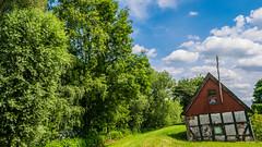 Haus Wmmeblick (ralf_warnecke) Tags: deutschland wolken haus bremen bume deu wandern fachwerk blockland