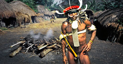 Dani War Chief (david schweitzer) Tags: explore dani warrior courtyard compound valley balim river westpapua central highlands irianjaya indonesia koteka birdofparadise pig pit cooking battle vanishingcultures grand stoneage culture tribe ethnography westnewguinea bodyart indigenous street documentary portrait clan warfare ethnicjewelry southpacific oceania earthoven cookingpit melanesia tradition neolithic people davidschweitzer documentaryphotography streetphotography humaninterest visualanthropology photojournalism documentaryportrait streetportrait