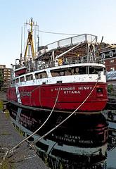 The Alexander Henry-Poster (cj howitt) Tags: ontario poster ship kingston drydock marinemuseum