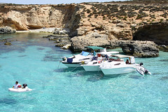 Blue lagoon (Steve Millward) Tags: vacation holiday colour 35mm nikon mediterranean outdoor scenic malta bluelagoon comino d7100 stevemillward stevemillwardcom