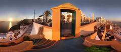 PANORAMA - Sundown, Santorini, Greece (panoround hutter) Tags: greece santorini mare mer voyage sundown sunset aegean sea architecture colors colores atardecer art shopping hotel condenast
