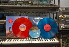 Records Coloured Vinyl-Rush and Tomita (scott3eh) Tags: record vinyl coloured blue red rush hemispheres tomita bermuda triangle