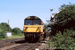 20/06/1989 - Maltby Colliery (SYJ), South Yorkshire. (53A Models) Tags: britishrail railfreight class58 56036 diesel freight maltbycolliery southyorkshire train railway locomotive railroad