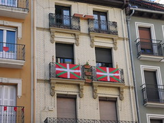 Basque flags, Pamplona!