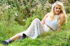 Beauty in lace. (pstone646) Tags: youngwoman younglady portrait pretty beauty people outside kent meadow