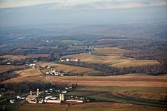 pastoral approach (rovingmagpie) Tags: pennsylvania pittsburgh pit farming airport bucolic rural farm silo christmas2016 pastoral