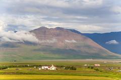 The farm Lauftún in Varmahlíð in Skagafjörður, North of Iceland, Mount Glóðafeykir in the background (thorrisig) Tags: 06072016 akraöxl sveitabær varmahlíð fjöll sveit iceland ísland island thorrisig thorfinnursigurgeirsson thorri þorrisig thorfinnur þorfinnur þorri þorfinnursigurgeirsson sigurgeirsson sigurgeirssonþorfinnur nature náttúra norðurland northoficeland north farm skagafjörður skagafjordur skagafjord glóðafeykir mountain fjall vastness openspace