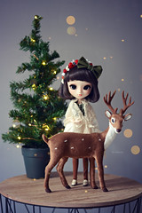 """Shion - """" Christmas Time """" (Nickocha) Tags: shion poison girl christmas time pullip doll dolls groove obitsu nickocha lullaby outfit deer fawn"""