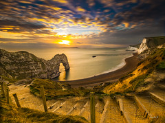 Durdle Door (the gizza) Tags: sky epicsunset uk england durdledoor dorset sun