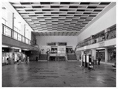 Railway station (awbaganz) Tags: kralupynadvltavou railwaystation station czechrepublic hall ceiling tiles mosaic windows passengers travel olympus e620 zuiko1240