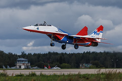 "MiG-29 aerobatic team ""Swifts"" Russian Air Force"