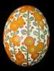 Apricot (Katy David Art) Tags: apricot yellow orange green floral flower hollyhock stem stalk white aniline dye egg eggshell pysanky pysanka batik wax beeswax