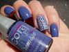 Cora - Blueberry + Top Beauty - Faroeste (Barbara Nichols (Babi)) Tags: cora topbeauty tb faroeste blueberry glitter colorido nails unhas nailpolish polishnails