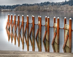 Pilings at Broughton Beach, Columbia River, Oregon (Wayne~Chadwick) Tags: