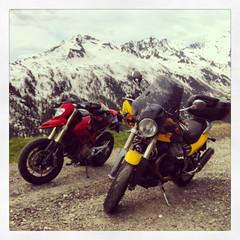 Passo Rombo - Timmelsjoch (Cloud hiker) Tags: mosoinpassiria trentinoaltoadige italia it ducati hypermotard motorbike guzzi centauro timmelsjoch