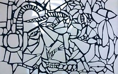 InFrequency (MATLAKAS) Tags: art contemporary charles birds modern tate apollo gallery saatchi people print text illustration cartoon indoor drawing mosaic infrequency hand cut tiles arttoday artgai gaigiovani saatchii gagosian painting new matlakas