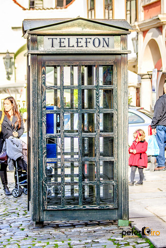 Telephone Booth in Cesky Krumlov, Czech Republic