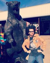 Bear With My Son (booboo_babies) Tags: bear statue lubbocktexas texas son boy man