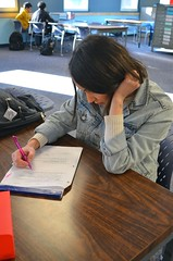 Studying - Campus Library - Afarin Mirzadeh - BCIT Radio Arts and Entertainment (afarinmirzadeh-) Tags: homework student bcit library afarin mirzadeh radio