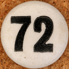Chad Valley Lotto number 72 (Leo Reynolds) Tags: xleol30x squaredcircle number numberbingo xsquarex bingo lotto loto houseyhousey housey housie housiehousie numberset group9 sqset129 groupnine 70s canon eos 40d xxtensxx xx2017xx sqset