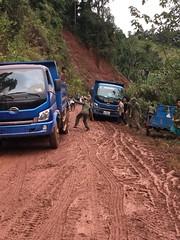 Truck stuck in the mud! (jumbokedama) Tags: phongsali teacigars teaplantations laolao laowhisky laowhiskey laofood