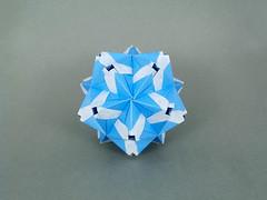 Legousia (masha_losk) Tags: kusudama кусудама origamiwork origamiart foliage origami paper paperfolding modularorigami unitorigami модульноеоригами оригами бумага folded symmetry design handmade art
