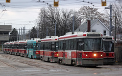 TTC CLRVs at Russell Division. (bishop71701) Tags: ttc toronto transit commission russell dead line clrv streetcar tram trolley