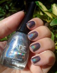 Cien: Cosmic Lilac 31 + Jade: Extasy (Dora Cristina Fernandes) Tags: jade holográfico vernizcinzento esmaltecinza holographic artisticnails nailart nagellack vernisàongles vernizesdeunhas smaltoperunghie lacadeunas naillacquer esmaltes unhasdecoradas unhasartísticas manicure