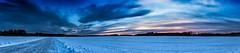 Ice skating at a nearby lake (Nyman Juha) Tags: panorama mäntsälä ice skating winter canon 6d wideangle sigma 24 105 f4 lumi jää snow cold weather sky color