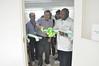 BoT Chair opens new Cassava Plant Propagation Facility (IITA Image Library) Tags: cassava manihotesculenta semiautotrophic hydroponic propagation