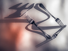 There is no spoon (RobertFenyo) Tags: shadows shadow fork still life