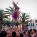 Girl-throwing Crowd Scene at Ciutadella Festes de Sant Joan