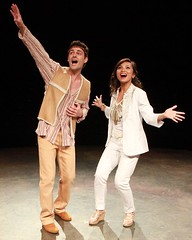 "Max von Essen as Joseph and Jennifer Paz as the Narrator in the 2010 Music Circus production of ""Joseph and the Amazing Technicolor Dreamcoat"" at the Wells Fargo Pavilion July 20-25.  Photo by Charr Crail."