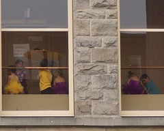 Shhhhhh Show in Progress (WryMuffin) Tags: parasol capitolhillseattle yellowtutu childrendancers seattlecentralcollege