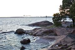 Helsinki rocky seashore at the summer night (ilpopaukkeri) Tags: sea finland seaside helsinki raw shore seashore archipelago nikond7000 helsinkiarchipelago