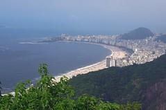 Brazil (Rio de Janeiro) Copacabana Beach view from Sugarloaf mountain (ustung) Tags: sea brazil beach nature riodejaneiro landscape nikon copacabana sugarloaf seashore