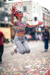 Notting Hill Carnival (endorphin75) Tags: 2016 britain carnival city confetti england girl global great hill jump kingdom london notting sightseeing united unitedkingdom