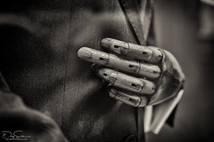 Hand (Daz Smith) Tags: dazsmith fujixt10 fuji xt10 andwhite bath city streetphotography people candid canon portrait citylife thecity urban streets uk monochrome blancoynegro blackandwhite mono hand wood wooden joints mannequin shop window display fabric